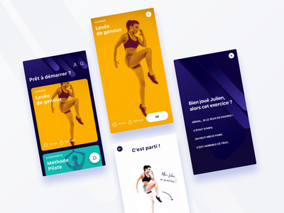 Sport Application 🏃 app art vector design sport application mobile color branding ux ui