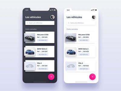 Redesign : dark vs light automotive photos minimalism branding design ui ux application app