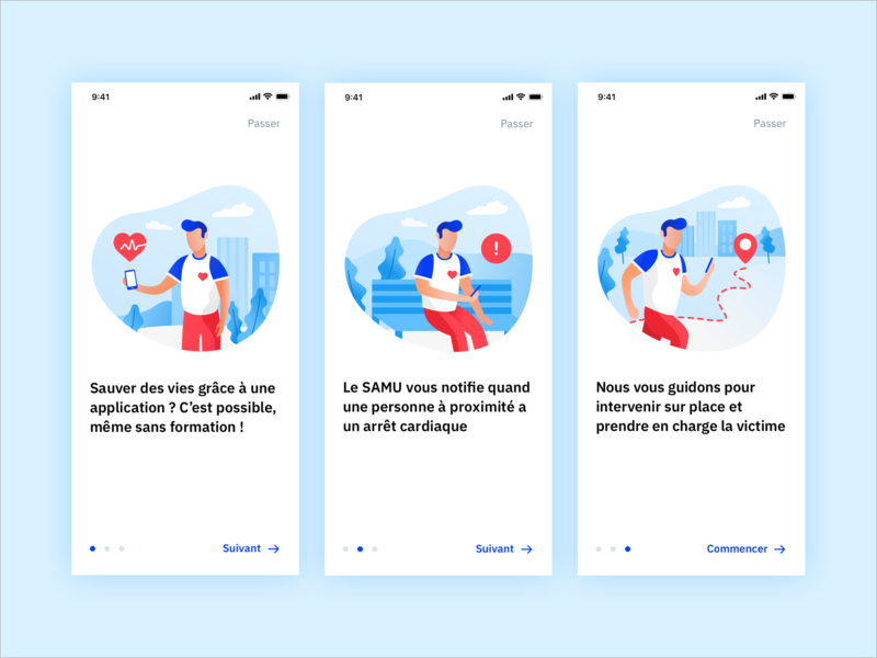 SauvLife tutorial 💙 illustration icon blue branding art vector minimalism color app application mobile ux ui design