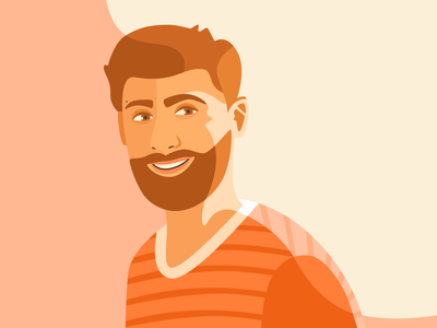Happy face eyes face design sketch man guy color vector illustration
