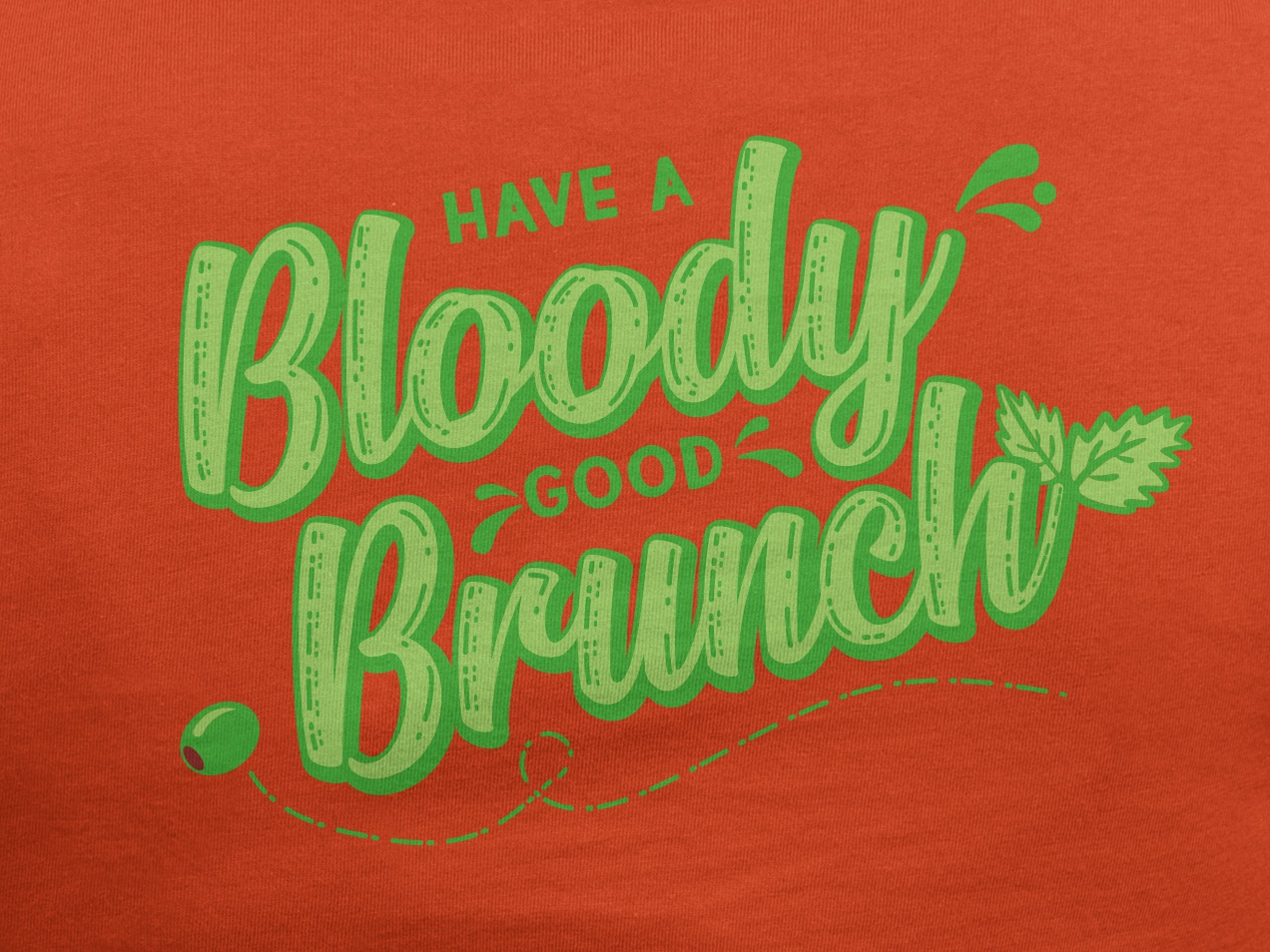 Bloody Good Brunch illustration celery bloody mary brunch typography apparel