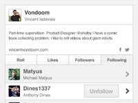 User Profile Following