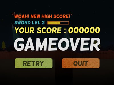 34c08aeca5db Game Over Score Lvl by Vincent Iadevaia