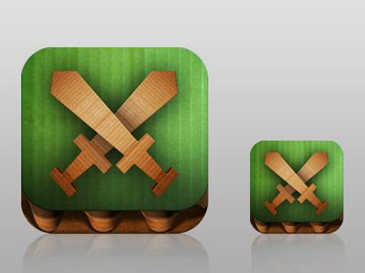 Papercut icon progress color texture app apple design game ios iphone cardboard icon