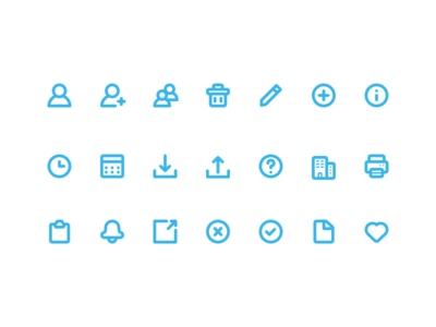 System Icons ui interface flat minimal simple vector glyphs icon set icons icon