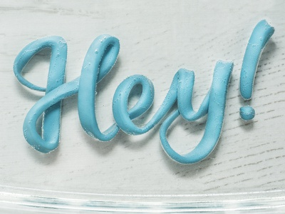 hey! plastilligraphy plasticine typography tactile letters lettering