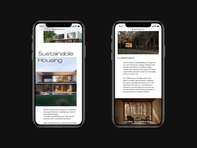 Sustainable Housing typography clean ui layout responsive design mobile