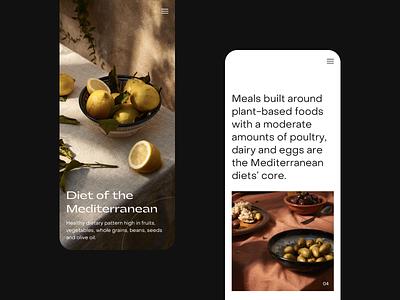Mediterranean | Food Blog typography layout ui website responsive design mediterranean food