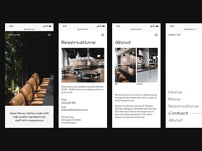 Restaurant food website layout typography clean safari menu reservations responsive website responsive design mobile restaurant