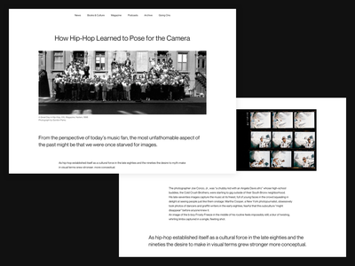 Music Article Page article website blog white hiphop clean ui layout whitespace music
