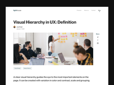 Blog Page tags article layout whitespace ux agency blog