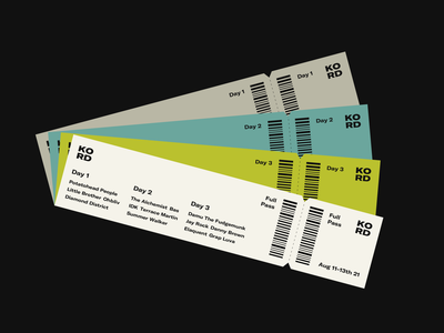 KORD typography graphic design ui concert ticket music festival