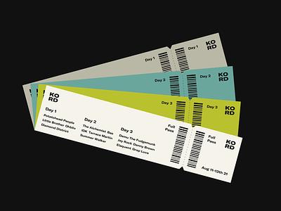 KORD typography graphic design ui concert ticket music festival