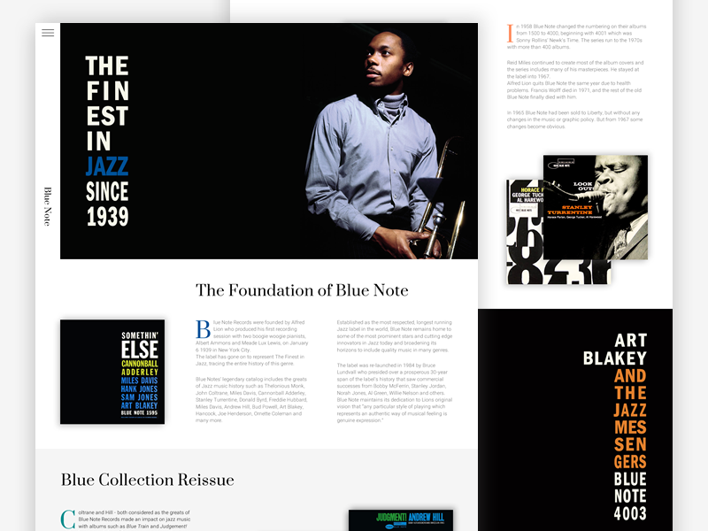 Blue Note Records Website | Redesign Concept by Mario Grgić on Dribbble