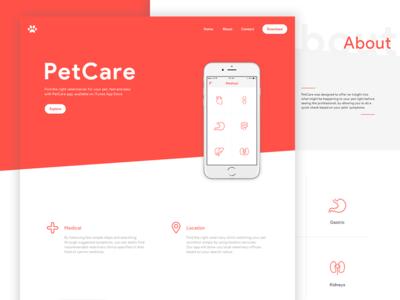 PetCare App | Product Website