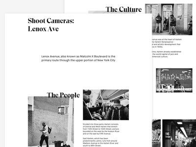 Shoot Cameras: Lenox Ave   Monochrome Web type web website monochrome new york typography harlem black white