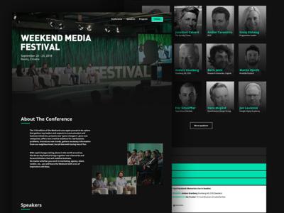 Weekend Media Festival | Redesign