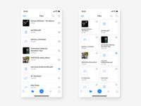 Cloud App | Files Screen