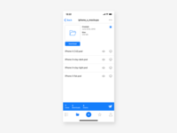 Cloud App | Folder Screen