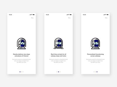 MTA App | Onboarding Screens