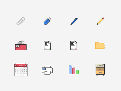 Office Icons icon set icons icon illustration office