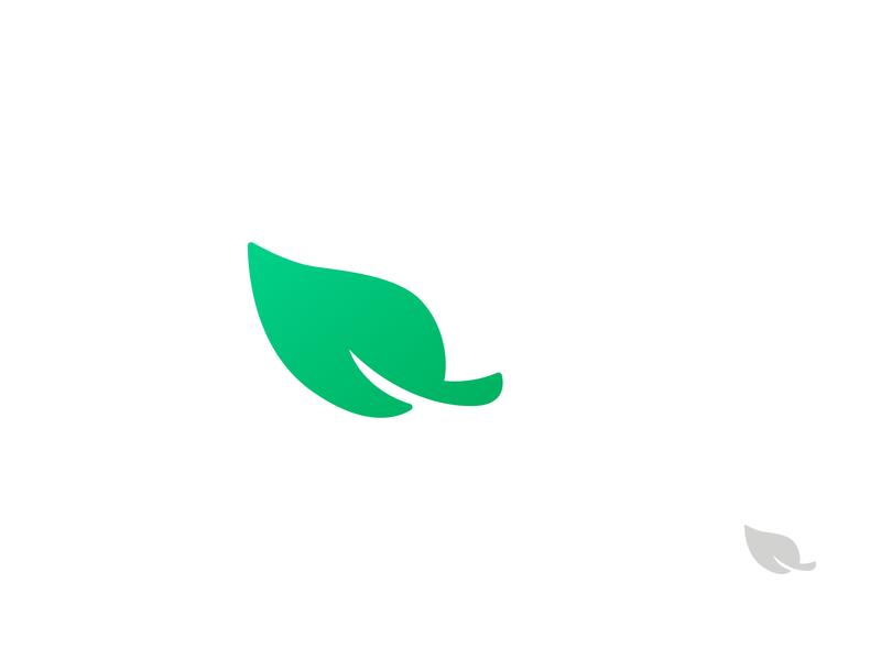 Leaf icon logo illustration green nature leaf icon