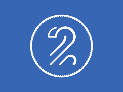 Two two number lines line art illustration icon 2