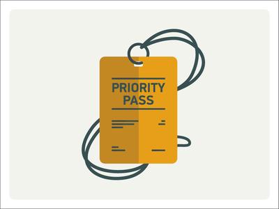 Priority Pass illustration badge priority pass vip gold