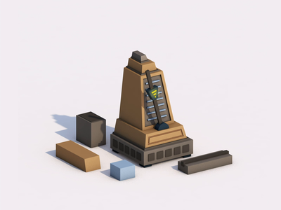 Objects transformation hourglass metronome wood animation modeling loops cinema4d 3d