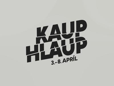 Kauphlaup text animation cut text