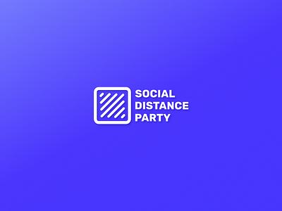 Social Distance Party vector mark logo audio bands twitch musicians music coronavirus covid19 social distancing