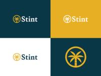 Unused Logo Concepts mark logo design lockup variant color palette palm tree hourglass stint design vector logo branding