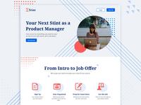 Stint Marketing Landing Page figma job board job hunting spreadsheet job search marketing landing page stint design branding website product web design marketing site