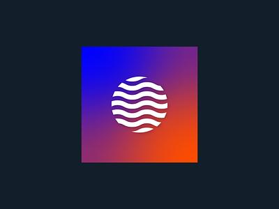 Rejected Mark + Gradient graphic waves planet vector gradient design logo branding