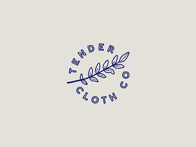 Tender Cloth Co Logo logo design mark cloth texture dye shibori indigo vector branding logo