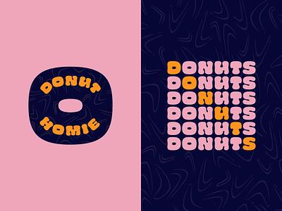 Donut Homie donut shop homie donut vector logo design logo branding