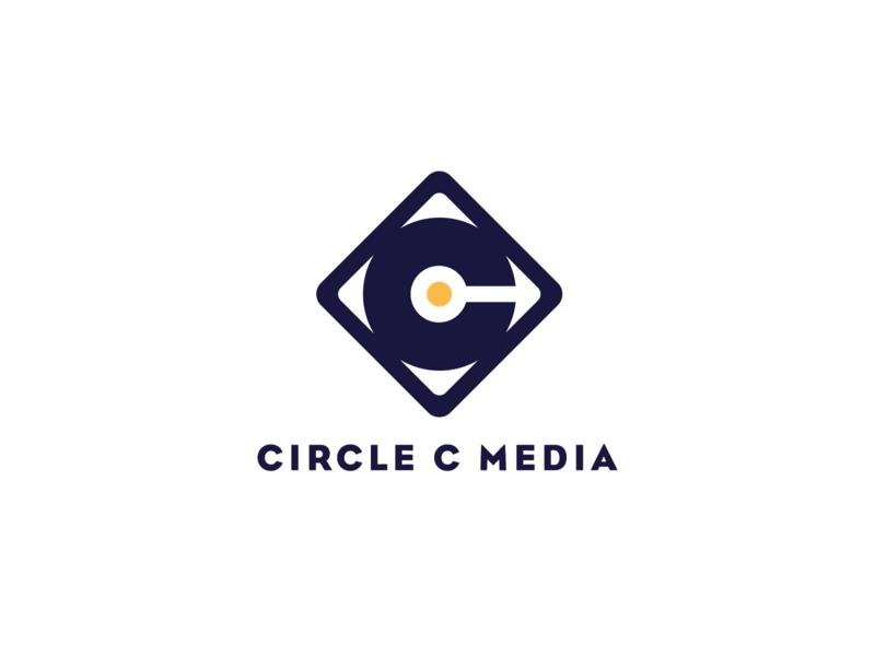 Circle C Media c screenprinting cd packaging tapes vinyl media square circle branding logo design