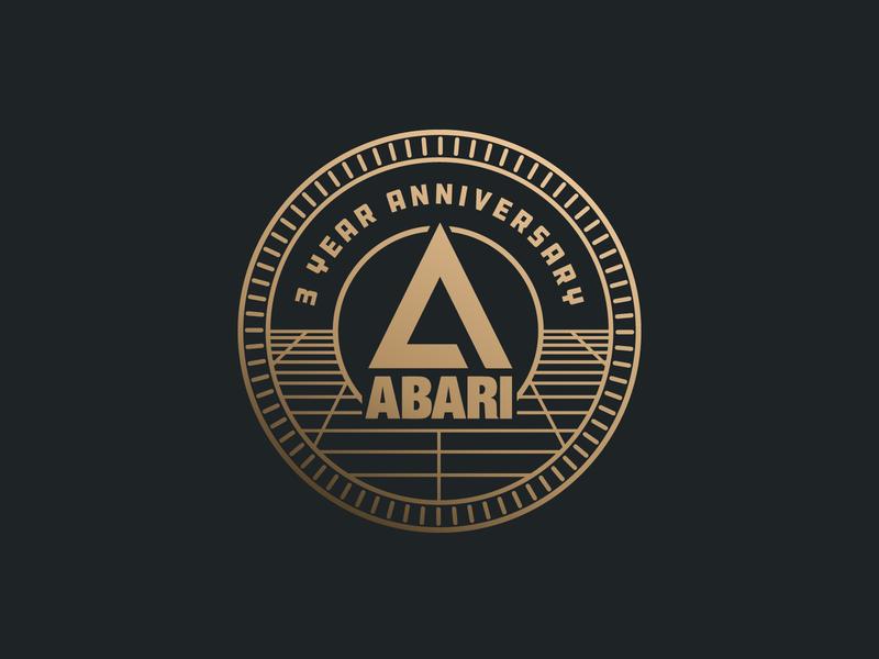 Abari Gold Token anniversary badge gold coin token branding block party nc charlotte atari barcade