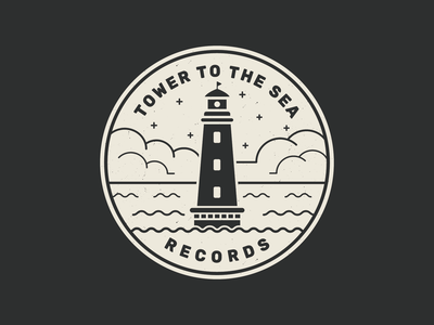 Tower to the Sea Records illustration identity brand badge tower to the sea nyc vector logo branding