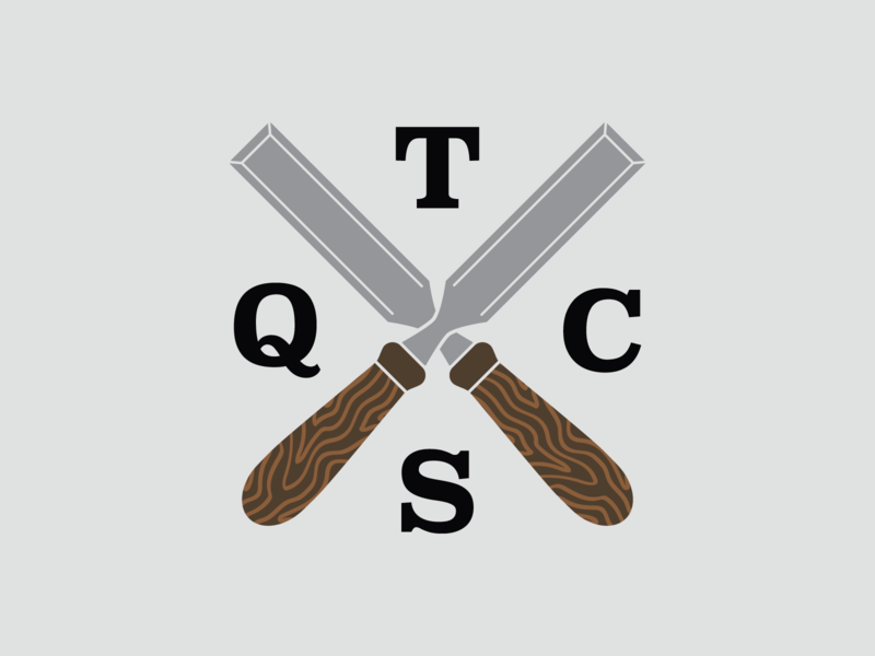 Chisel Branding logodesign texture type branding woodworking chisel contracting tennessee tristar