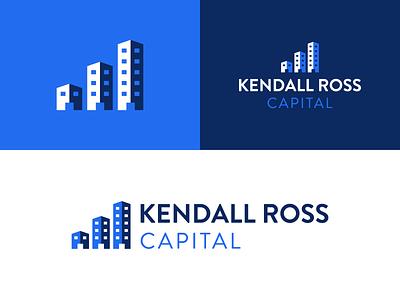 Kendall Ross Capital Logo income mark homes housing investment capital real estate branding brand logo