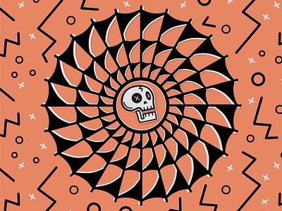 Sticker Mule Skull stickers spider pattern skull halloween tattoo traditional spiderweb stickermule