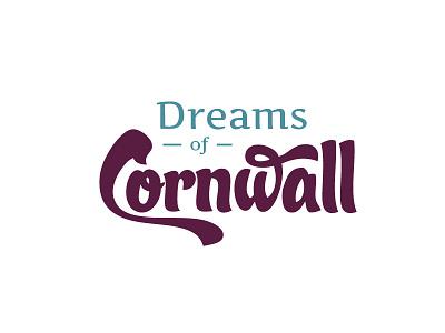 Dreams of Cornwall logo dreams cornwall script