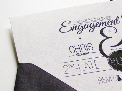 Egagement Card engagement print typography