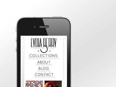 Lydia Berry logo typography app design web design