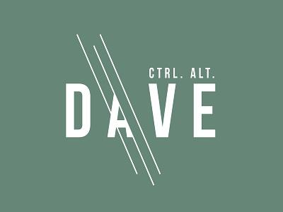 ctrl. alt. dave branding logo dave website design