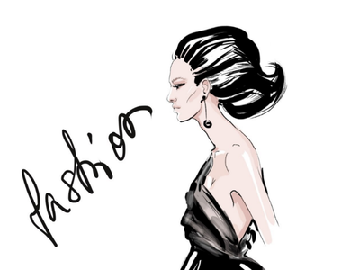 Runway sketch art runaway portrait fashion illustration illustrator