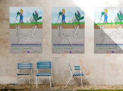 Farbfelder Poster