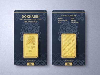 Gold bar Package design photoshop mockup traditional pattern package design realistic bullion oriental pattern korea goblin branding bullion dealer gold bar gold dokkaebi