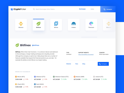 CryptoTicker - Compare and Discover crypto market data scrolling after effects expanding branding logo ui interaction ui design currency web platform dashboard interface charts crypto dashboard ui animation ticker market cryptocurrency exchange stock crypto exchange crypto currency